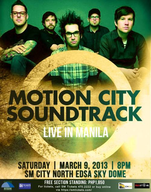 Motion City Soundtrack to play first ever show in Manila, Philippines (finally!).  March 9th, 2013.  Tickets available here.