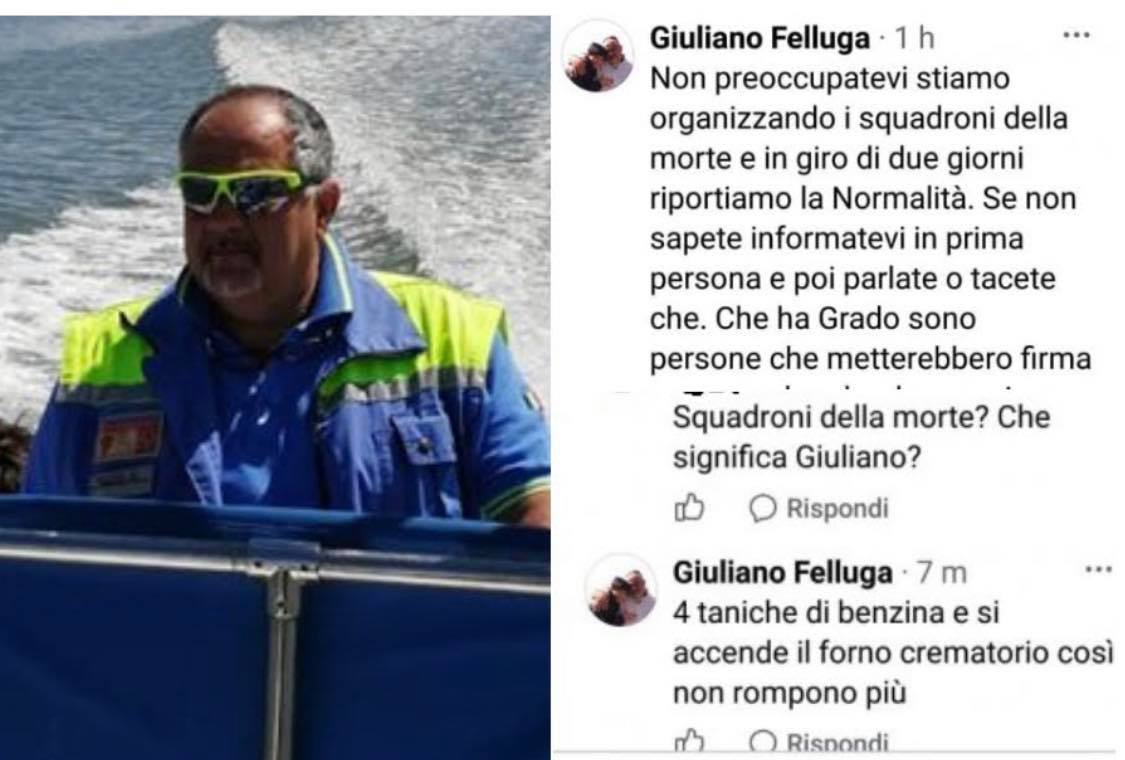 ui è Giuliano Felluga. È (era) responsabile della Protezione civile di Grado, in provincia di Gorizia. Il suo problema è (era) sedare la rivolta scoppiata ieri all'interno dell'ex caserma Cavarzerani di Udine, dove 400 migranti hanno dato il via a...
