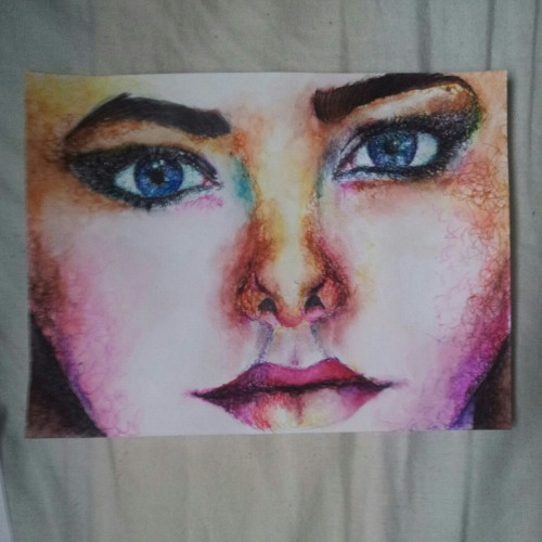 Effy Stonem from skins, done in pen and watercolour  Please don't change the source