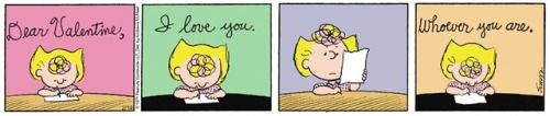 Peanuts Valentine& 039;s Day comic strip Valentine Sally Brown Valentines Day Charles Schulz 1971 vintage