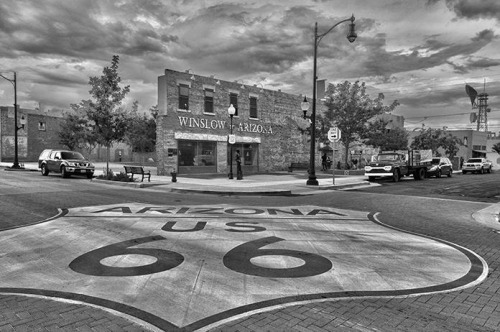 ape-hangers:  Standing on a corner in Winslow, Arizona