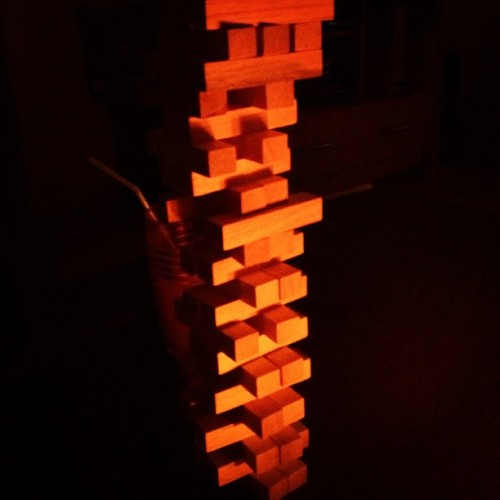 The craziest and longest Jenga game everrrr! :-P