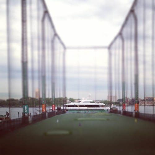 target practice…  (at Chelsea Piers Golf Club)
