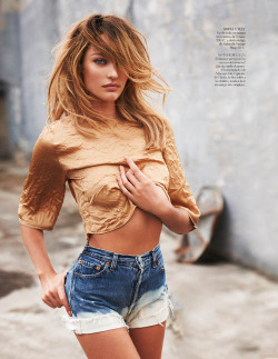 acidwonderland:  shamelessorgasms:  Candice Swanepoel for Vogue Spain (Tan Sexy) April 2013 by Mariano Vivanco  and now I'm a lesbian