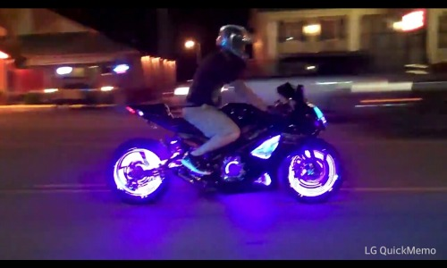 This is going to be my first motorcycle upgrade! The wheel lighting kit! Tron is coming to LIFE!!!