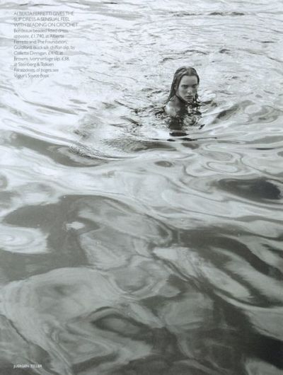 "extolled:  ""Pure"" Ewa Witkowska by Juergen Teller for UK Vogue November 1997"