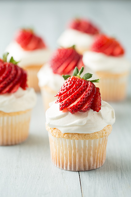 gastrogirl:  angel food cupcakes.