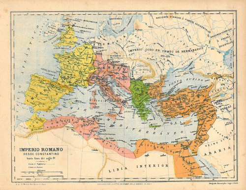 Historical Map of the Roman Empire Antique 1899 at CarambasVintage http://etsy.me/Xjo381