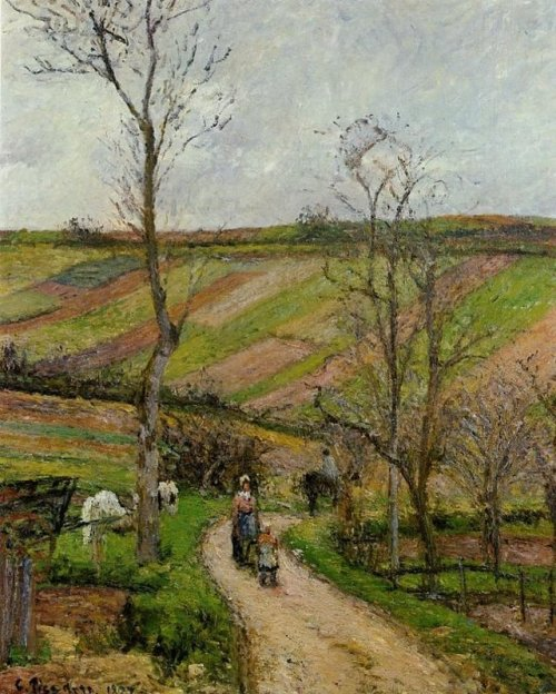 Camille Pissarro landscape rural country France lane 1870s impressionism
