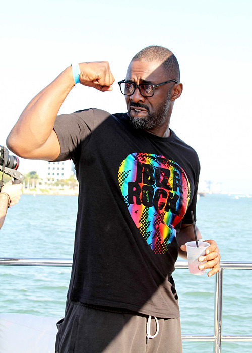 sendinthebasterds:  Idris Elba at the Toolroom Records MOX Miami 2013 Yacht Party