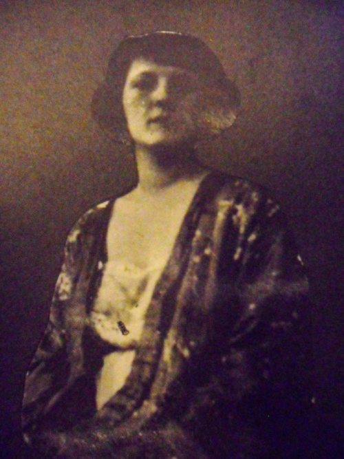 Zelda Fitzgerald [X] This looks to be a picture from a scrapbook. I would guess her age to be mid to late 30s.