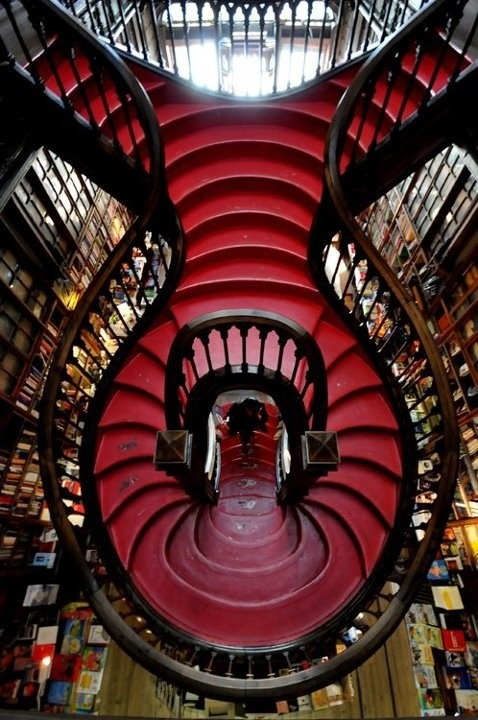 How cool is that. I'm told it's a famous bookshop in Porto, Portugal.
