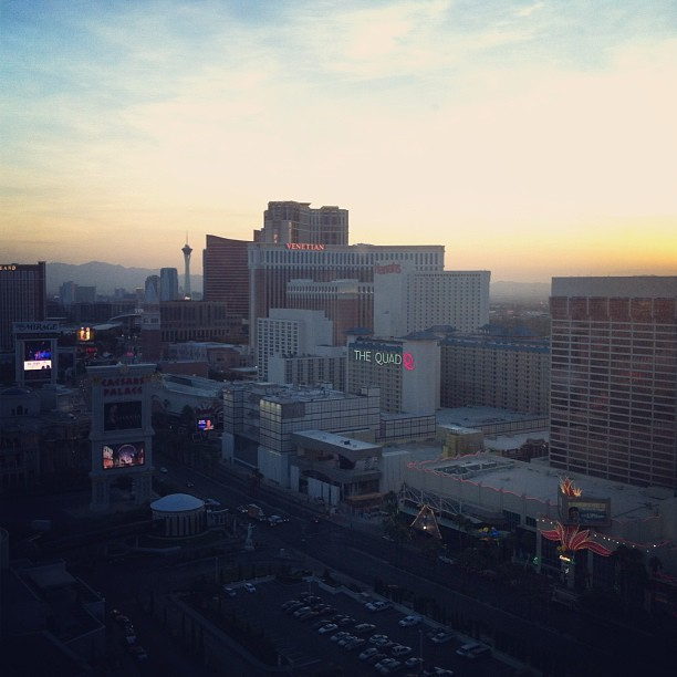 Sunrise over Vegas. (at Caesars Palace Hotel & Casino)