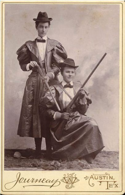 ca. 1890, [cabinet card, portrait of two hunters], W.O. Journeay via Carl Mautz Vintage Photographs, Cabinet Card Collection