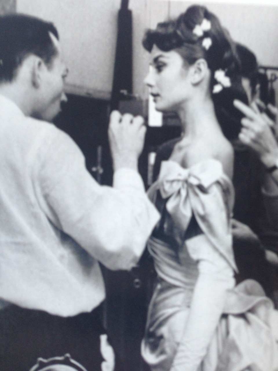 Audrey on the set of Mayerling (1957)