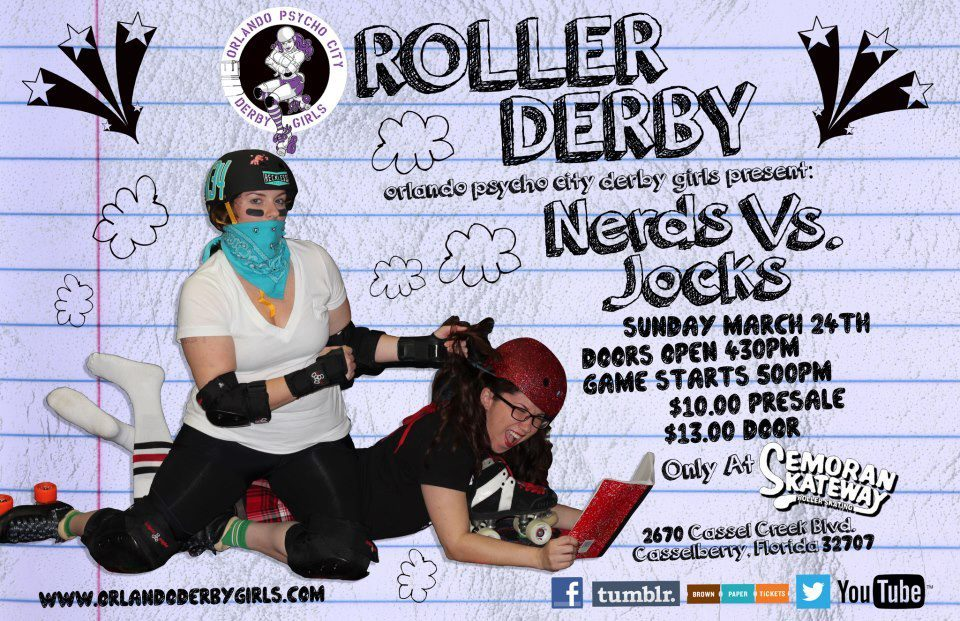 This Sunday! NERDS vs JOCKS!