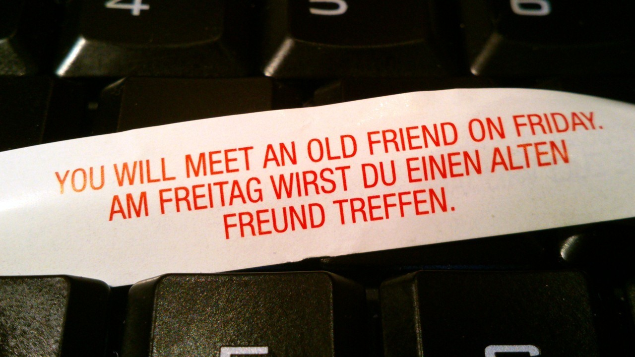 meet old friends on friday fortune cookie