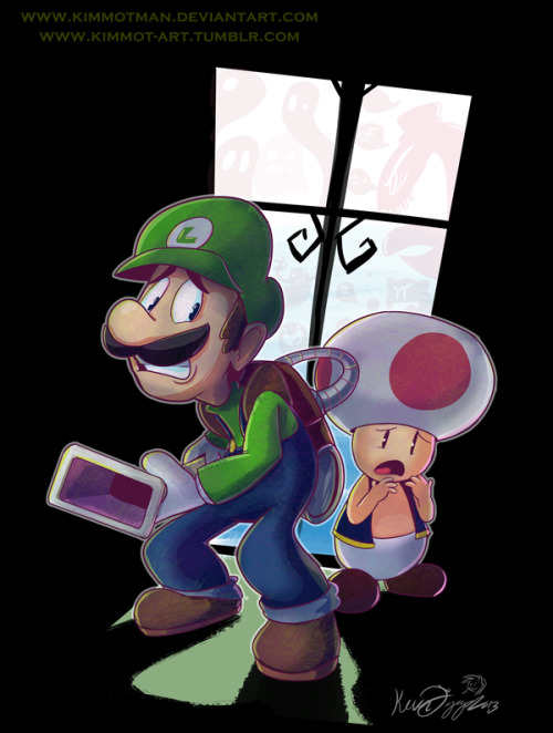 kimmot-art:  Luigi's Mansion! Love these games. :)