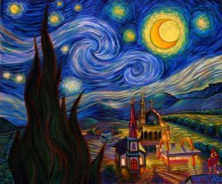Psychedelic Wallpaper (Muslim Starry Night) ART ! THOU wallpaper PSYCHEDELIC ?!?