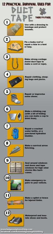 The many uses of duct tape.