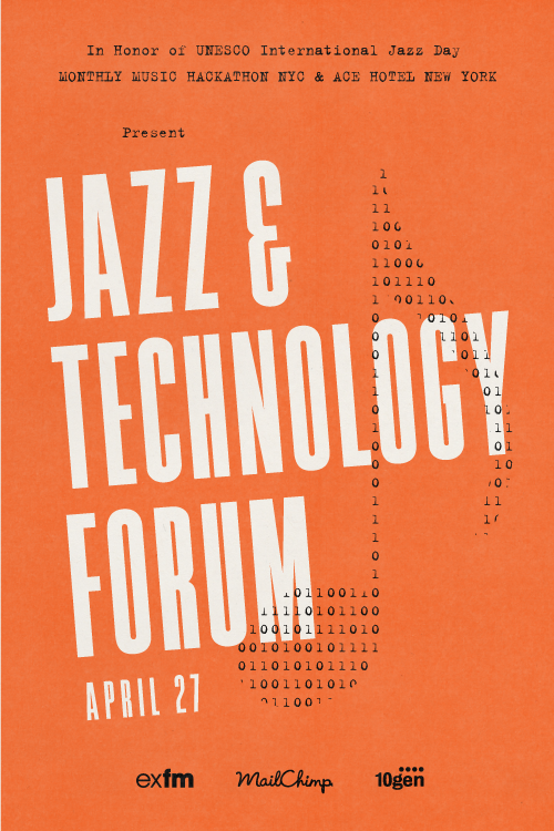 This Saturday at Ace Hotel New York, we're hosting a Jazz & Technology Forum with Monthly Music Hackathon NYC as part of UNESCO International Jazz Day. It's a chance to meet up and share knowledge, ideas and challenges among the jazz, music technology, music information research, and musicology communities, to brainstorm new possibilities and act on those possibilities quickly and in tandem. An evening concert will showcase music made that day, and the day's discoveries will be presented on the web. The day will start with two talks by Monthly Music Hackathon regulars Brian McFee and Ben Lacker, focusing on using new technology for research and creation, respectively. In the afternoon, you and your new best friends will share, think and make beautiful music together, culminating in a free concert open to everyone. See the full schedule on our calendar, and an interview with Jonathan Marmor, one of the primary instigators behind this weekend's meeting of minds.