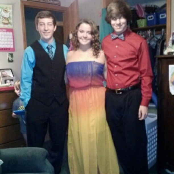 guys, look how cute my dates for the band banquet were! #bestfriends