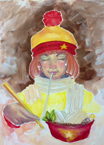 eatsleepdraw:   A homage to my all time favorite home food, Pho and my heritage and backgrund, Vietnam. Check out my gallery at http://be.net/TaraMa  Pho - the heritage food in Vietnam