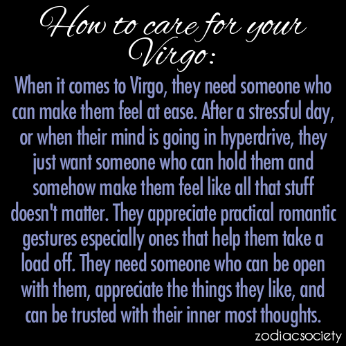 zodiacsociety:  How To Care For Your Virgo:  👆