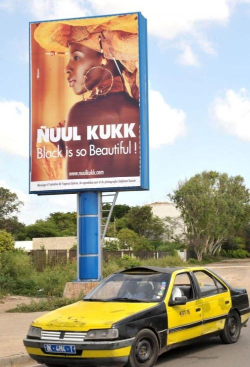 dynamicafrica:  Senegal campaign preaches 'black is beautiful' after ads urge women to bleach skin   Last year's 'All White' ads promoting lightened skin angered activists in Senegal who want women who know bleaching is dangerous. They put up their own ads to tell women that 'black is so beautiful.'
