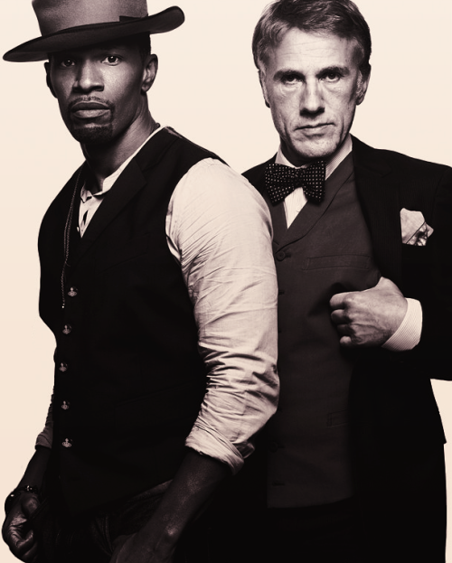 Jamie Foxx & Christoph Waltz → GQ December 2012