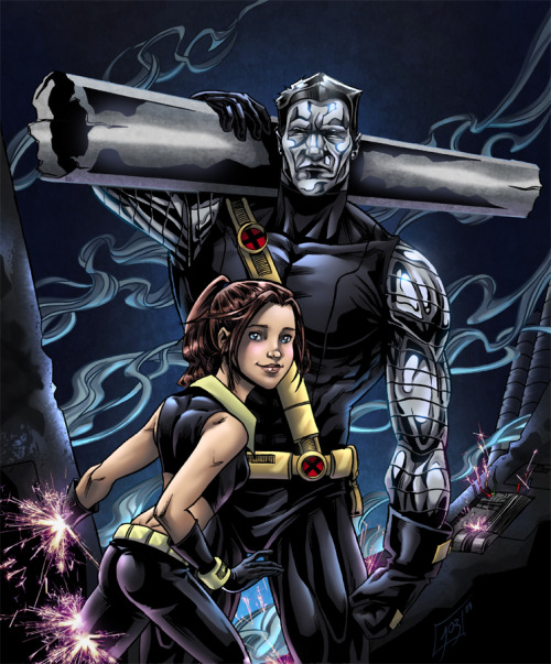 comixghost:  Colossus and Shadowcat