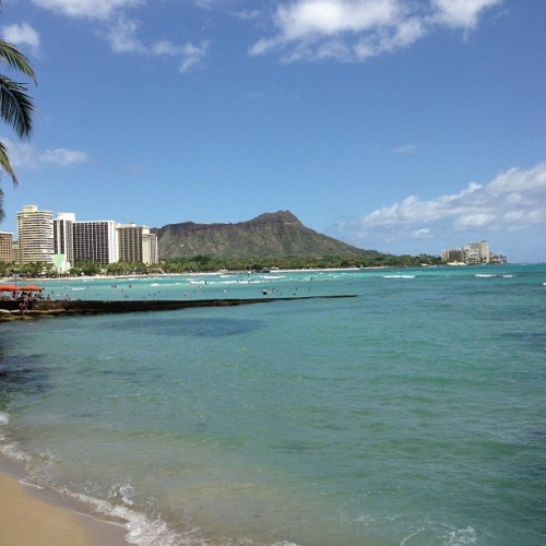 #Diamondhead #Waikiki #Beach #summer #Hawaii #Ocean #fun in the sun #sunnyday
