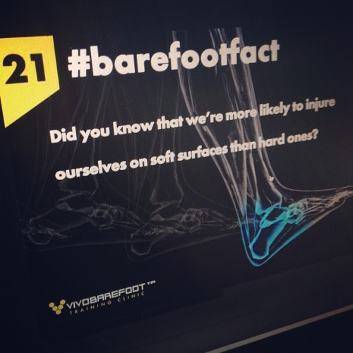 Without sensory feedback the brain gets confused.  #barefootfact 21 Did you know that we're more likely to injure ourselves on soft surfaces than hard ones? http://www.vivobarefoot.com/barefoot-facts