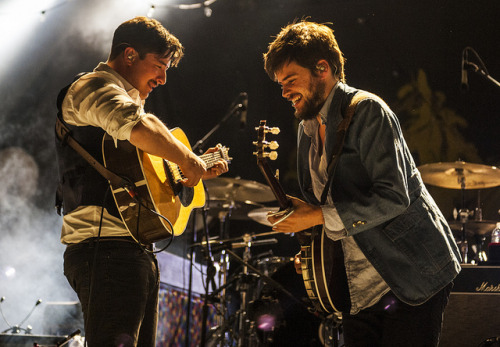 "evphemism:  Mumford & Sons (Marcus Mumford & ""Country"" Winston Marshall) @ the Hollywood Bowl (Los Angeles, Calif., Nov. 10, 2012) by davidbrendanhall on Flickr."
