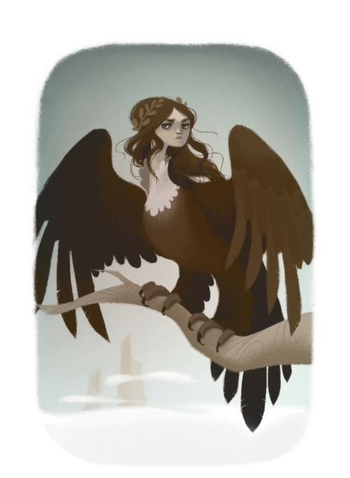30 day monster girl challenge Day 1: Harpy  This bandwagon is too much fun to pass up.