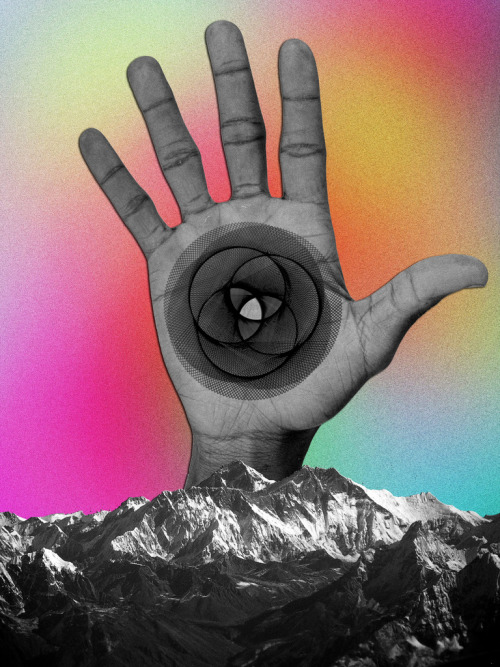 collage-calamity:  Mountain Hand, feru-leru on Flickr Tumblr | Facebook | Website | Society6