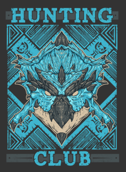 Remember the Hunting Club Rathalos shirt? well it's time for some Azure Rathalos, also I'm working on more monsters. You can find it here: Redbubble Society6