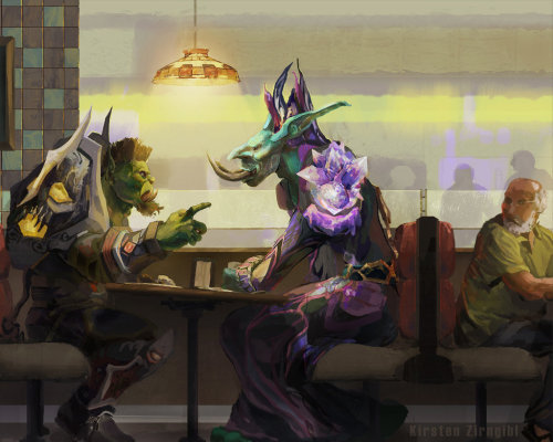 sabretoothedcritter:  The Roleplayers, by Mechaorthopteroid