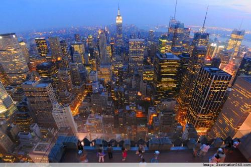 Top of the Rock…looks like the top of the world! Image: Destination 360