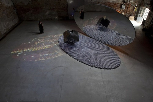The Black Arch installation (by Shadia and Raja Alem)  Via