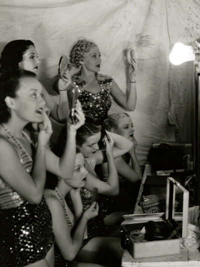 maudelynn:  Another view of dancing girls on the set of  Star For a Night c.1933