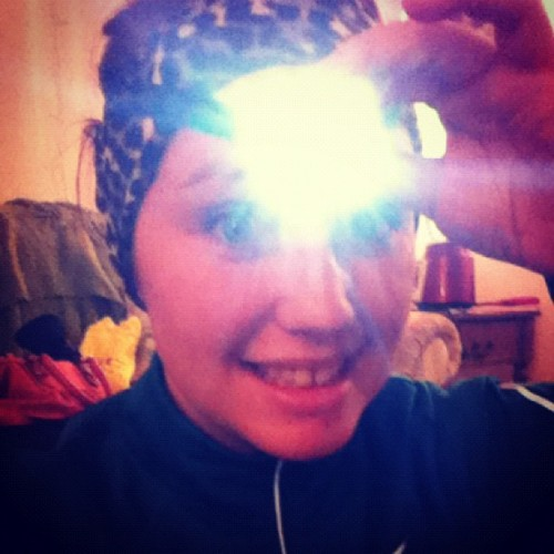 daniness:  Special kid with a headlamp. Yep I ran out in that #snow /crap #run #crazy #gooberstatuslevelinfinite
