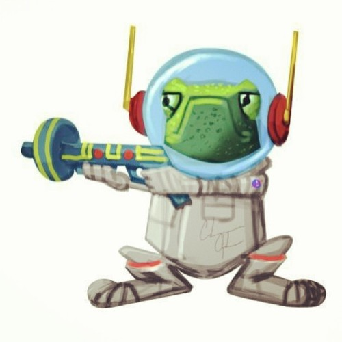 #spacefrog #frog #drawing #astronaut #cute #sketching #art #illustration #calvinclyke