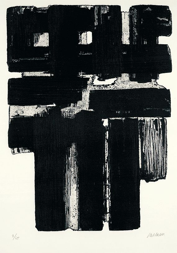 workman:  arpeggia: Pierre Soulages - Etching IV (top); Xb (bottom), 1957 | More posts