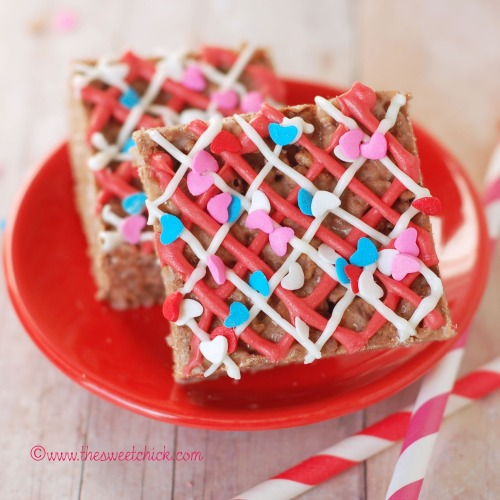 chocolate raspberry rice krispie treats (no-bake) click here for recipe
