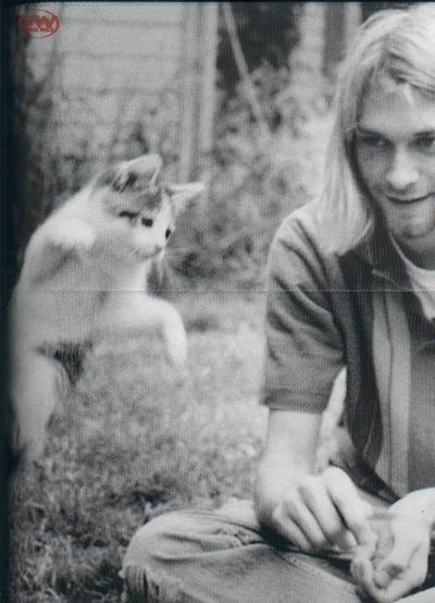 Kurt Cobain and Kitty