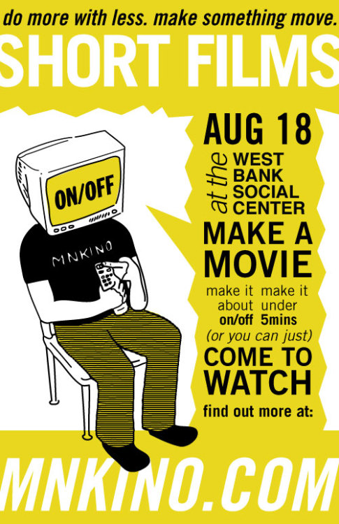"Still two weekends left to make an ""ON/OFF"" film!"
