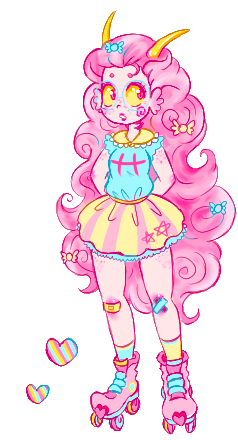 frillytrickster:  random trickster fef i made for my sidebar! her hair is probably made of cottoncandy ( it's transparent! )