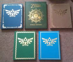 hotarulilac:  The Books of Hyrule - Left to Right Phantom Hourglass / Hyrule Historia / Twilight Princess Spirit Tracks / Skyward Sword