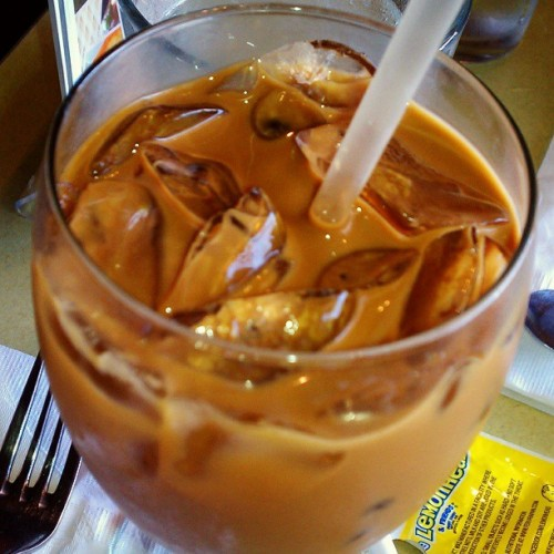 #ThaiIcedCoffee. Its been so long!! #yummy!!! :) #icedCoffee#thai (at Thai Grata Restaurant)